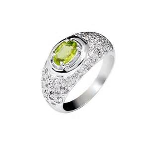 peridot wedding rings 1 carat peridot engagement ring on silver jewelocean