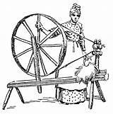 Wheel Spinning Clipart Spin Clip Loom Bike Thread Etc Usf Edu sketch template