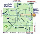 Ann Arbor Michigan City Map - Anna Arbor michigan • mappery