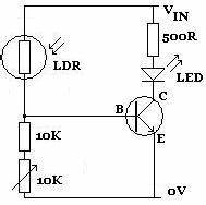 transistors 12v led strip lights controlled by pir want With ldr switch circuit