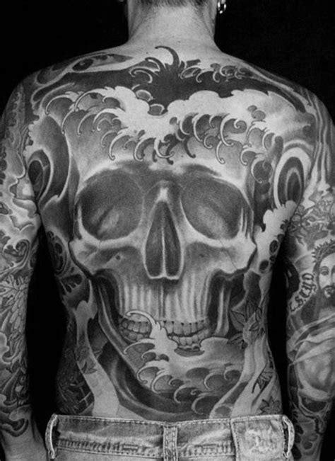 japanese skull tattoo designs  men cool cranium