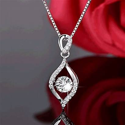 Silver Necklace Dancing Stone Accessories Soufeel Jewelry