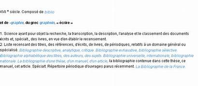 Bibliographie Signification General Inicio