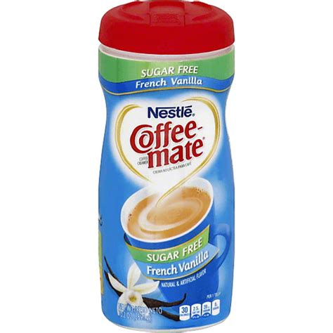 I should have just ordered the regular the powdered creamer is a better value than the liquid coffee mate creamer that you get in the refrigerated section of your grocery store. Coffee Mate Coffee Creamer, Sugar Free, French Vanilla | Creamers & Sweeteners | Reasor's