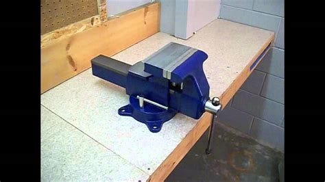 mounting  bench vise youtube