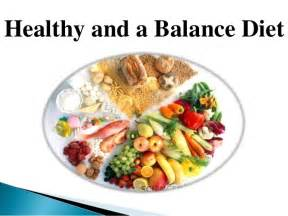 Healthy Balanced Diet and Foods