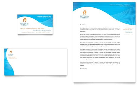 Physical Therapist Business Card & Letterhead Template Design