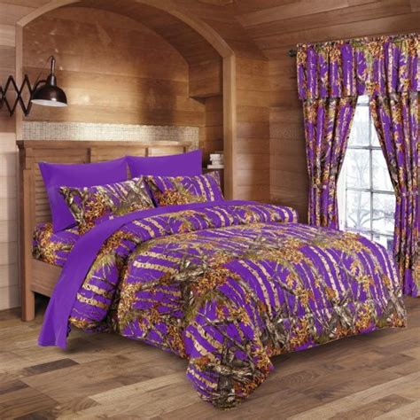 purple camo bed in a bag set the sw company