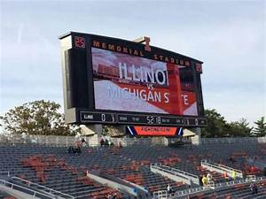 Illini Stadium Seat Chart Memorial Stadium Champaign Section 109 Row 32 Seat 20