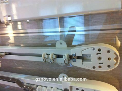 novo single track curtain track with pulley system