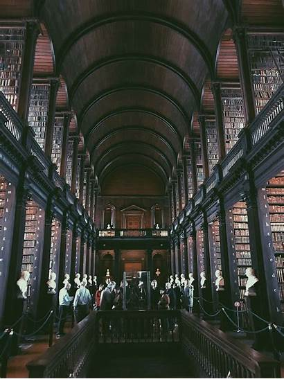 Library Trinity College 1080p Architecture Building 5k