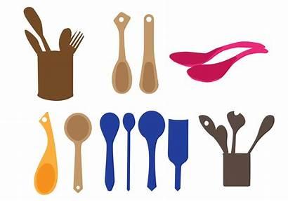 Wooden Vector Spoons Spoon Vectors Simple Clipart