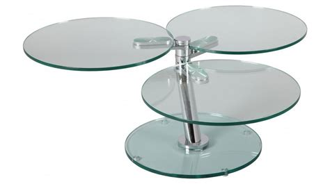canapé convertible d angle pas cher table basse ronde articulée 3 plateaux verre table basse