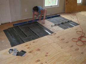 level floor how to level a plywood or osb subfloor using asphalt