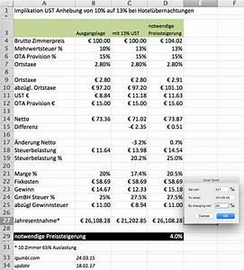 Mehrwertsteuer Berechnen Excel : wie viel m ssen preise angehoben werden wegen der mehrwertsteuererh hung 2016 in sterreich von ~ Themetempest.com Abrechnung