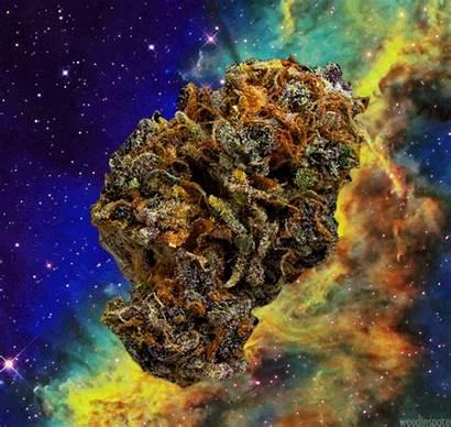 Weed Trippy Space Bud Smoking Animated Galaxy