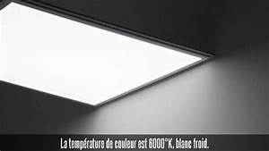 Pavé Led 600x600 : pack de 4 dalles led 600x600 mm blanc froid youtube ~ Edinachiropracticcenter.com Idées de Décoration