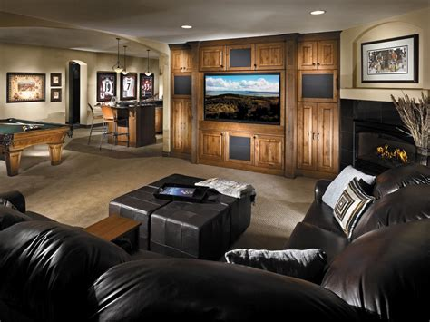 Basement Media Room With Ambient Recessed Lighting It Isn