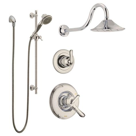 Bathtub Faucets With Hand Shower by Faucet Com Linden Monitor Shower Package Ss In