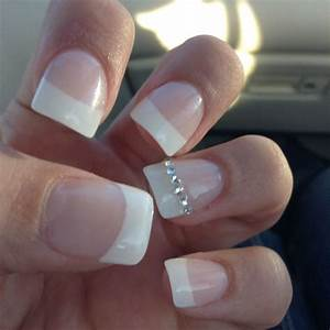 Fake nails with simple stud diamonds!   Nails   Pinterest ...