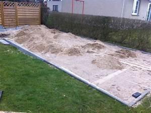 Terrasse Mit Kies : terrasse selber bauen fundament erstellen hausbau blog ~ Markanthonyermac.com Haus und Dekorationen