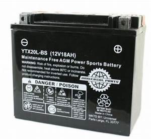 12v 18ah Battery Ytx20l-bs  Part  104-60