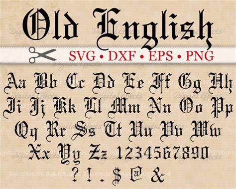english monogram svg font gothic letters svg dxf eps