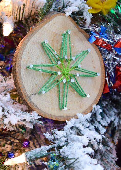 christmas kids craft  easy diy string art ornaments
