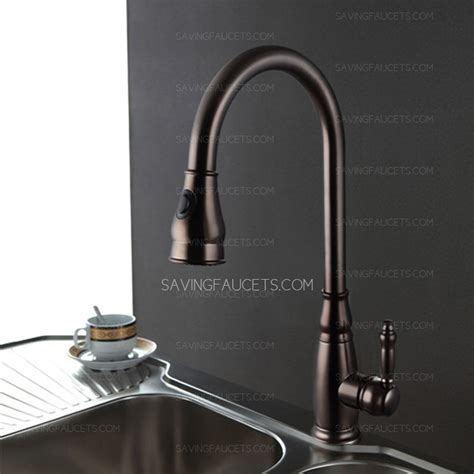 bronze kitchen sink faucets antique oil rubbed bronze pullout kitchen sink faucets 166 99