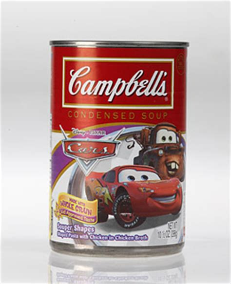 campbell soup cars souper shapes condensed soup  kid