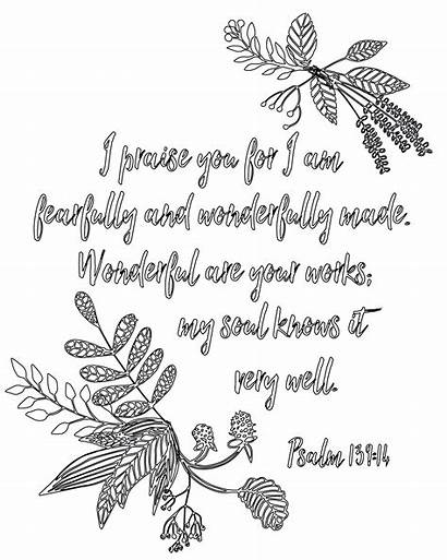 Psalm 139 Coloring Pages