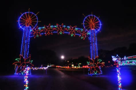 see 4 million lights at yukon s christmas in the park