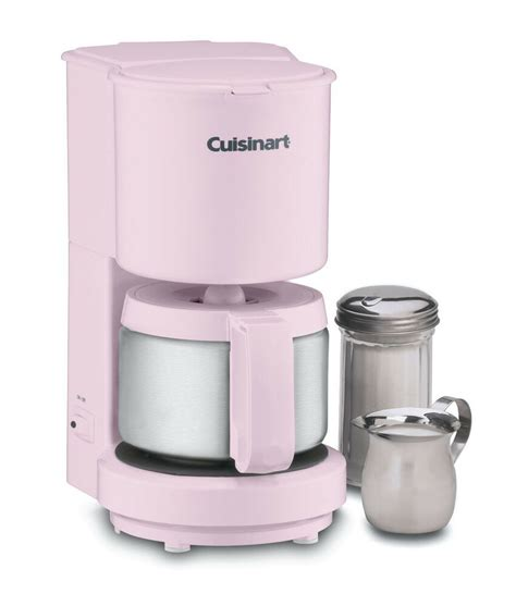 After our 3rd kcup machine stopped working i decided to go back to the drip type coffee makers. Cuisinart DCC 450pk 4 Cup Coffee Maker Stainless Steel Carafe Auto Shutoff Pink 0086279020642 | eBay