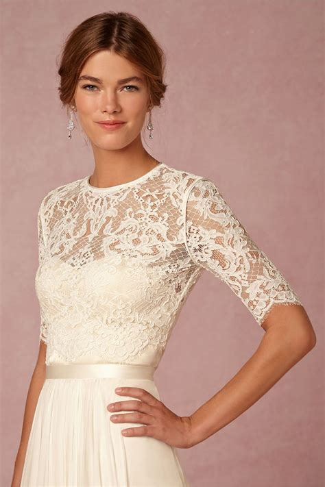 dasha corded lace  sleeve bridal topper  jewel