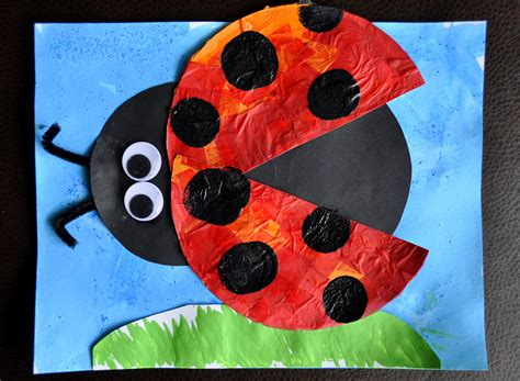 i crafty things eric carle inspired bug craft 515 | Luke Ladybug