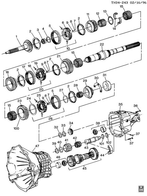 chevy manual transmission parts diagram chevy auto