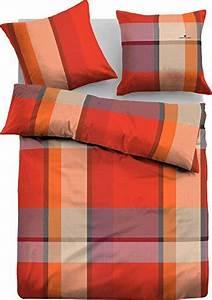 Flanell Bettwäsche 220x240 : h bsche bettw sche aus flanell rot 135x200 von tom tailor bettw sche ~ Frokenaadalensverden.com Haus und Dekorationen