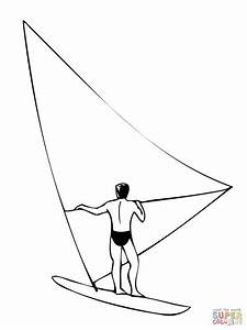 windsurfer girl coloring page free printable coloring pages With windsurfer template