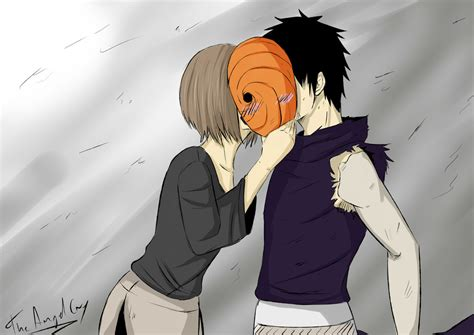 Obito And Rin By Theangelcryart On Deviantart
