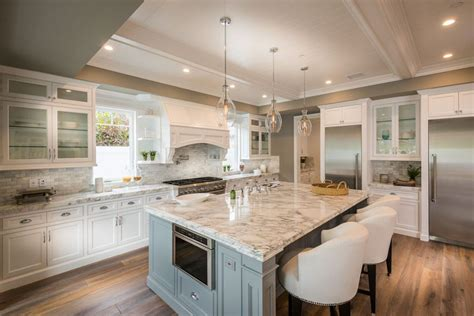 kitchens with different colored islands 37 large kitchen islands with seating pictures 8789