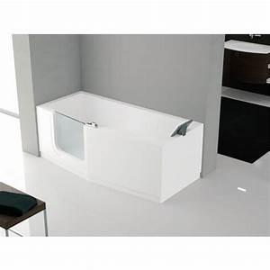 baignoire a porte 170 x 80 cm version gauche standard With baignoire a porte prix