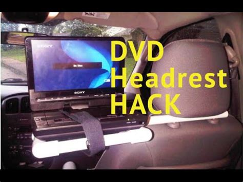 diy dvd player head rest res hack youtube