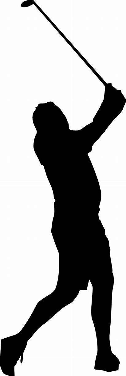 Golfer Silhouette Woman Transparent Clipart Clip Library