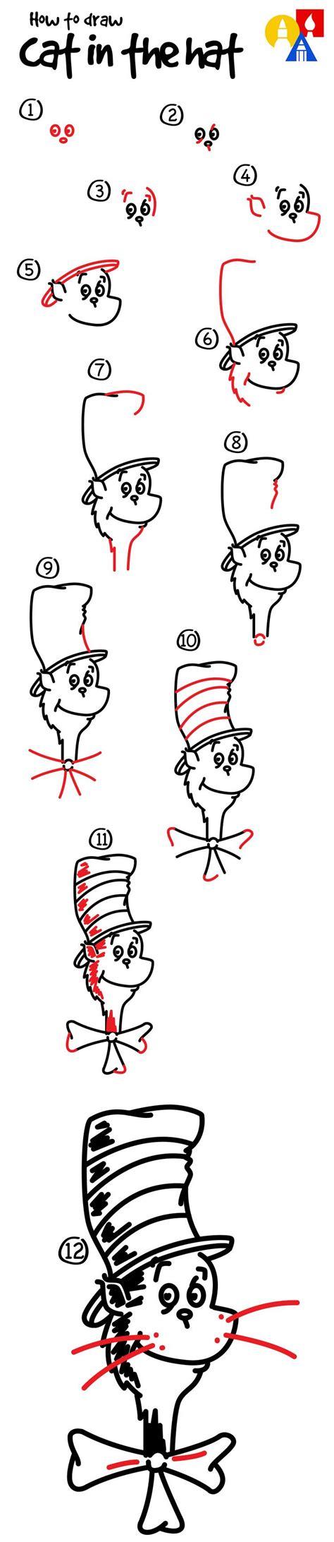 draw  cat   hat art  kids hub cat