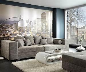 Big Sofa Xxl : bigsofa marlen 300x140 cm hellgrau couch m bel sofas big sofas ~ Indierocktalk.com Haus und Dekorationen
