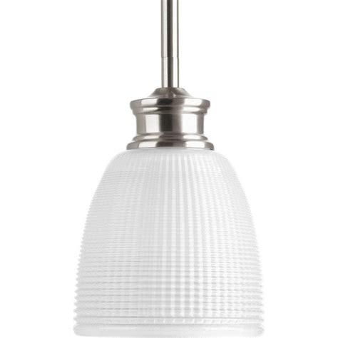 brushed nickel pendant light progress lighting lucky collection 1 light brushed nickel