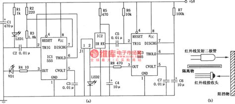 Close Range Infrared Detection Circuit Composed