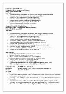 Customer Relation Manager Resume Resume Banking