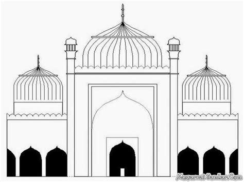 gambar mewarnai kartun masjid