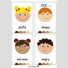 Emotions Flash Cards  Busy Little Bugs